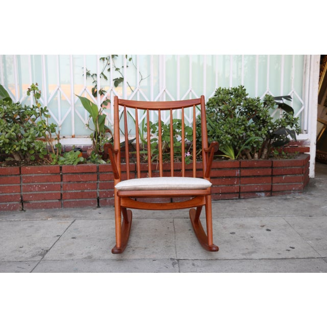 Danish Teak Rocking Chair by Reenshang for Bramin For Sale - Image 9 of 9