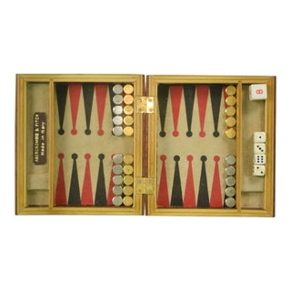 Abercrombie & Fitch Travel Backgammon Boxed Set For Sale