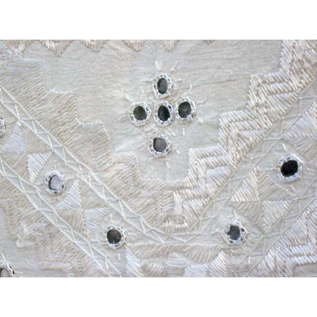 Indian Mirrored Cotton Coverlet - Image 4 of 8