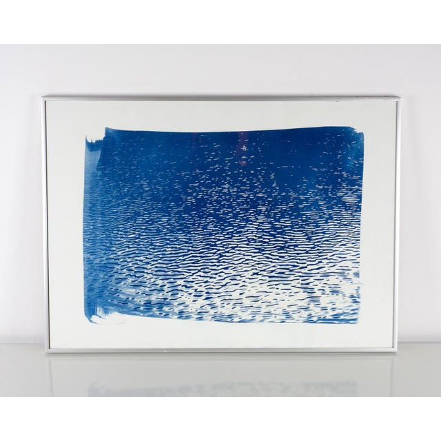 """Blue Lake Ripples"" Cyanotype Print - Image 2 of 5"