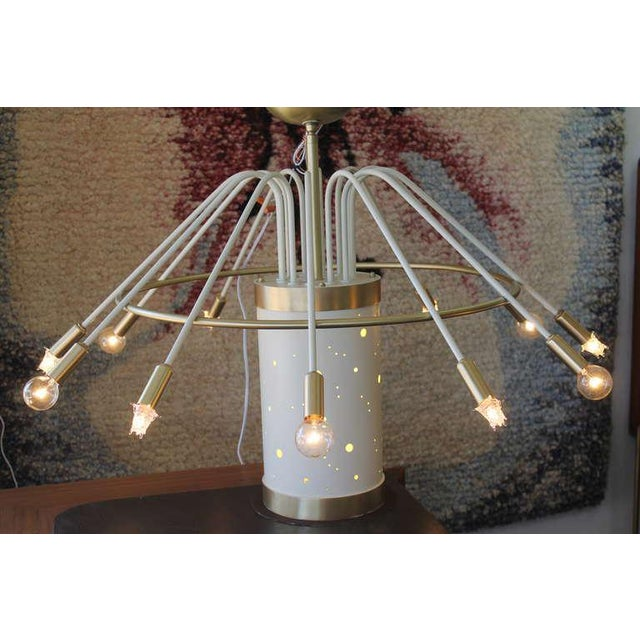 Cascading umbrella shaped chandelier from the famous Faust Hotel ballroom in Rockford, Illinois. Chandelier has been...