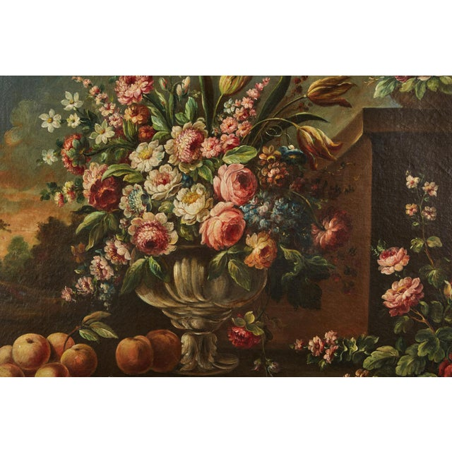 Italian Pair of 19th Century Italian School Still Life Large Oil-On-Canvas Painting within a Giltwood Frame For Sale - Image 3 of 10