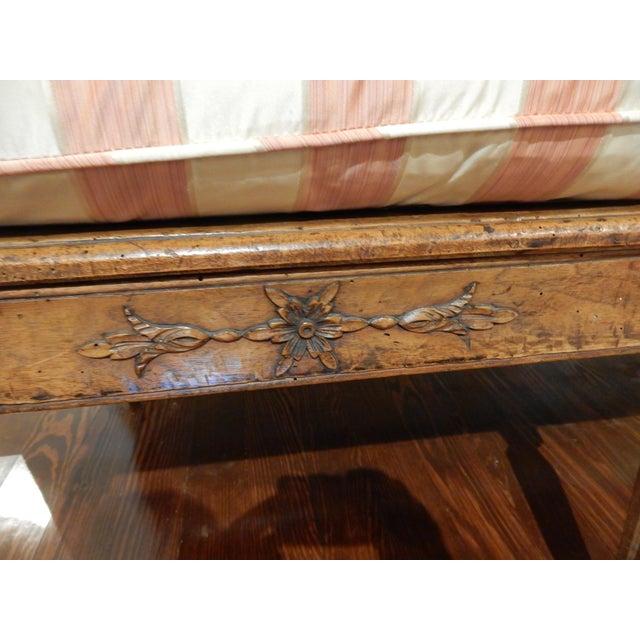 Wood Louis XVI Walnut 18th Century Settee For Sale - Image 7 of 10