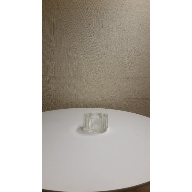 Modern Vintage Clear Glass Planter For Sale - Image 3 of 4