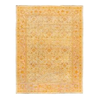 "Apadana - Antique Floral Amritsar Rug, 11'4"" X 14'11"" For Sale"
