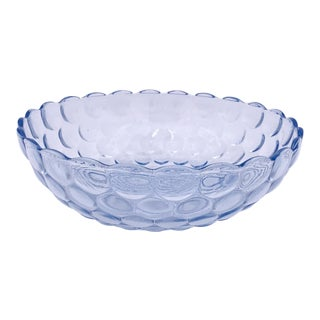 1937 Anchor Hocking Glass Bubble Serving Bowl For Sale