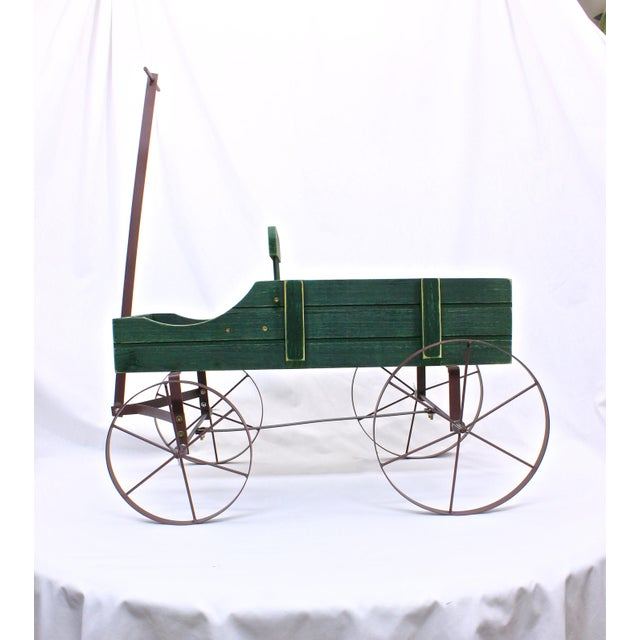 Vintage French Style Wagon Planter For Sale - Image 5 of 6