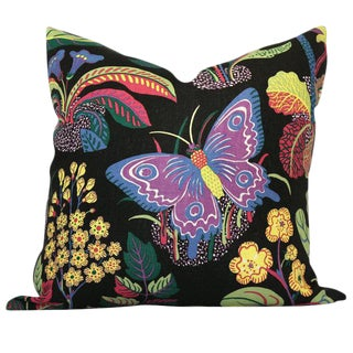 Butterfly in Black Decorative Pillow Cover
