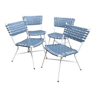Hollywood Regency Vintage Aluminum Patio Chairs - Set of 4 For Sale
