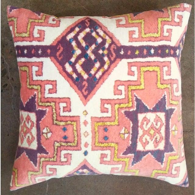 Orange Summer Velvet Pillow Cover - Image 2 of 3
