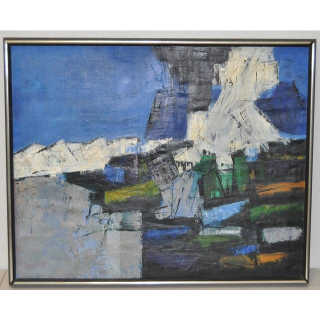 Mid-Century Modern Abstract Painting c.1960 - Image 2 of 6