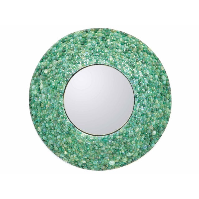 2010s Kam Tin - Emerald Round Mirror , France, 2017 For Sale - Image 5 of 5