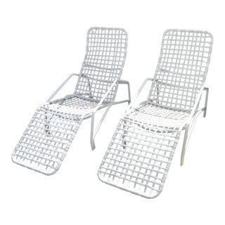 Brown Jordan White Aluminum Lido Rocker Lounge (Set of 2)