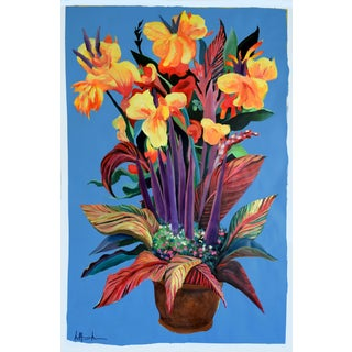 """""""Pot De Fleurs"""" Calla and Canna Watercolor Painting"""