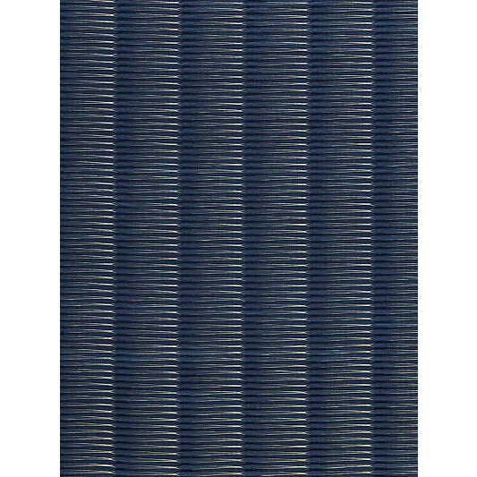 Scalamandre Wavelength Jacquard, Indigo Fabric For Sale