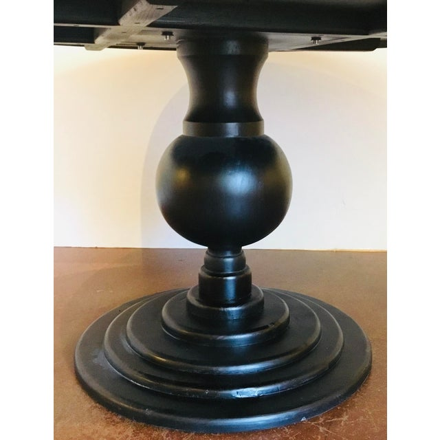 Organic Modern Reclaimed Wood Round Dining Table For Sale - Image 4 of 5