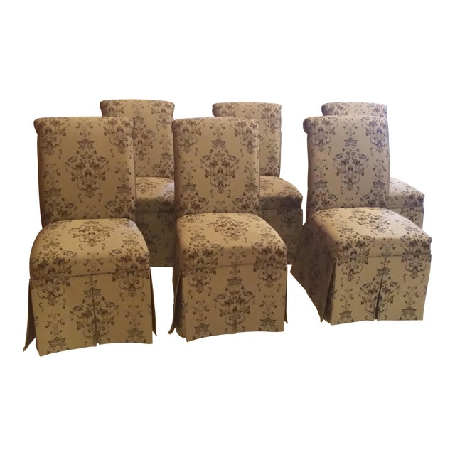 Skirted Parsons Chairs - Set of 6 - Image 1 of 8