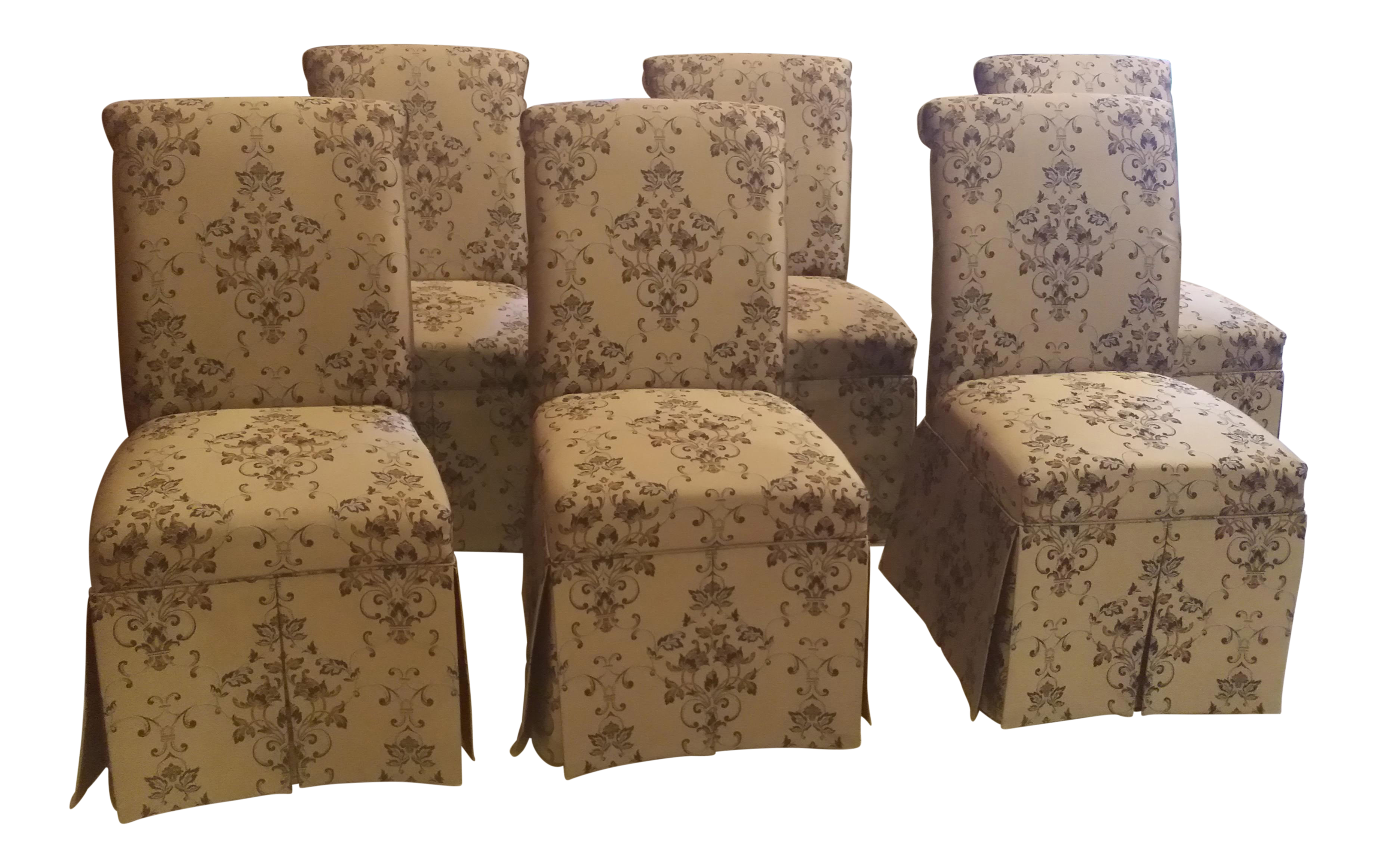 Skirted Parsons Chairs - Set of 6  sc 1 st  Chairish & Skirted Parsons Chairs - Set of 6 | Chairish