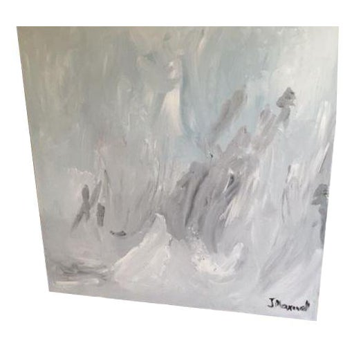 """""""Untitled #2"""", Gray Abstract Painting - Image 1 of 8"""