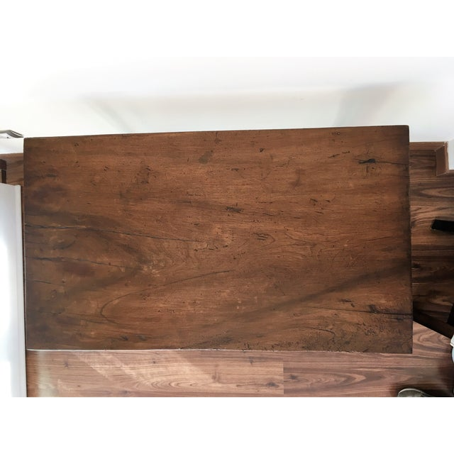 Brown 19th Spanish Farm Table or Desk Table For Sale - Image 8 of 11
