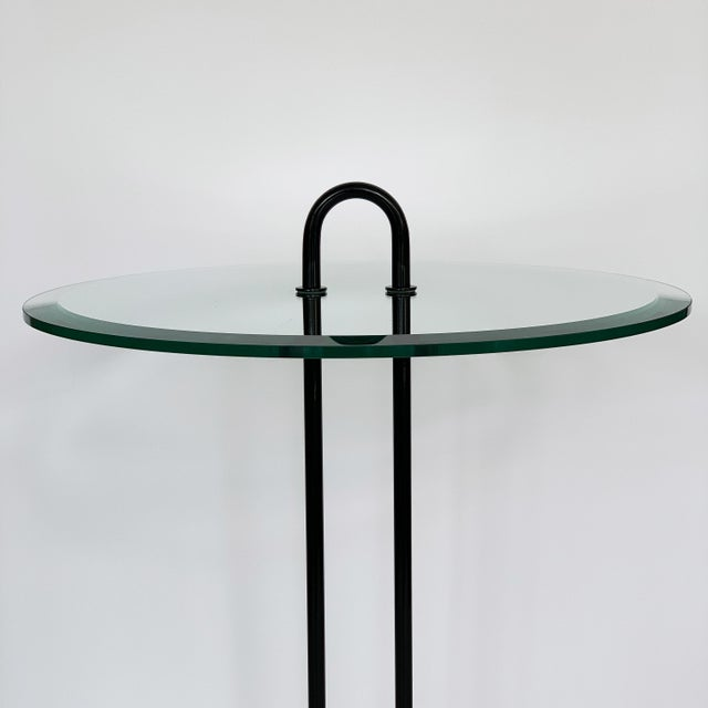 Metal Vico Magistretti Travertine and Glass Side Table for Cattelan Italia For Sale - Image 7 of 13