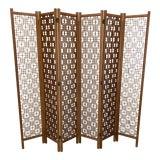 Image of Teak 6-Panel Folding Screen For Sale