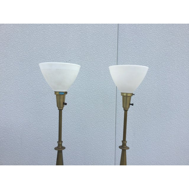 1960's Stiffel Hollywood Regency Table Lamps For Sale - Image 5 of 8