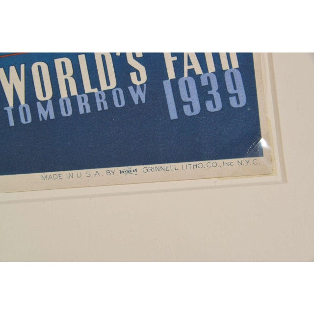 1939 Art Deco Machine Age Original New York World's Fair Posters Triptych For Sale - Image 4 of 9