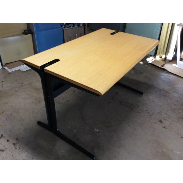 Herman Miller desk modern in nice condition. Eames style executive desk. George Nelson inspired. Metal desk base. Nice...