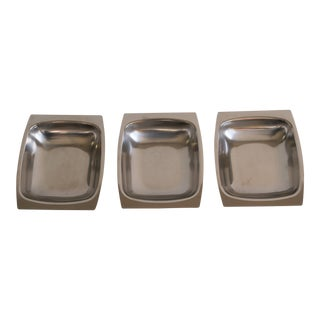 1950s Swedish Stainless Steel Dishes - Set of 3 For Sale