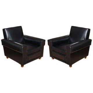 English 40's Pair of Oversized Club Chairs by Erton For Sale