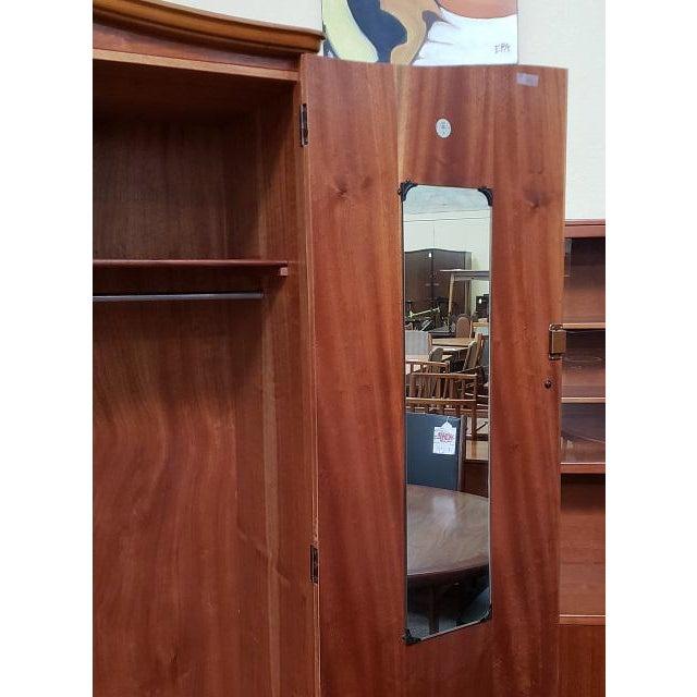 Vintage Walnut Double Door Armoire C.1940 For Sale - Image 4 of 8