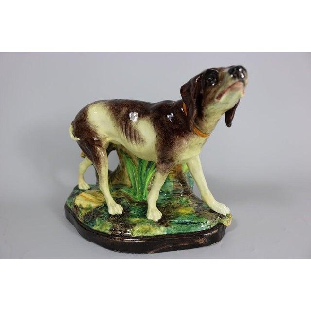 Early 20th Century Jerome Massier Fils Majolica Dog Figural Vase For Sale - Image 11 of 11