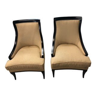 Modern Century Furniture Transitional Lounge Chairs- A Pair For Sale