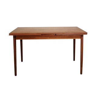 Danish Mid Century Rectangular Dining Table W Two Hidden Leaves - Falkeholm For Sale