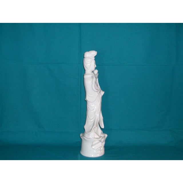 "Flawless XL Chinese Blanc-De-Chine Porcelain Figurine 16"" - Image 8 of 8"
