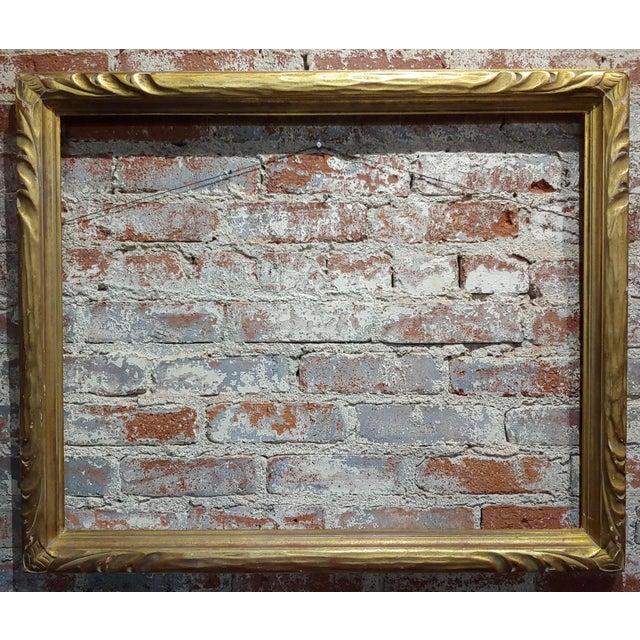 """Art Nouveau Art Nouveau 24x30"""" Gilt Wood Frame -C1900s For Sale - Image 3 of 11"""