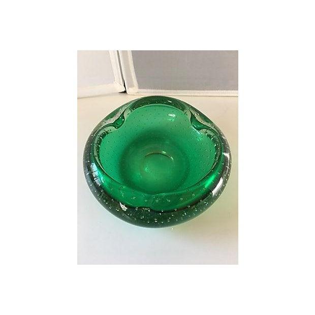 Emerald Green Murano Bowl - Image 3 of 4