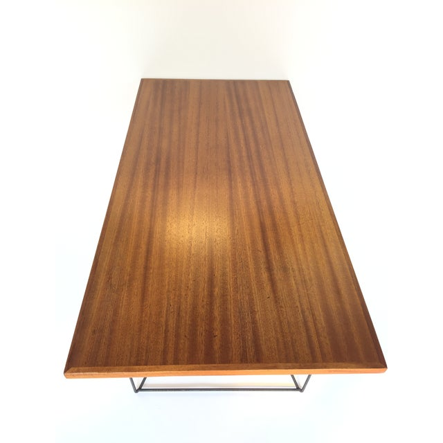 Brown Luther Conover Mahogany and Iron Table, 1950 For Sale - Image 8 of 11
