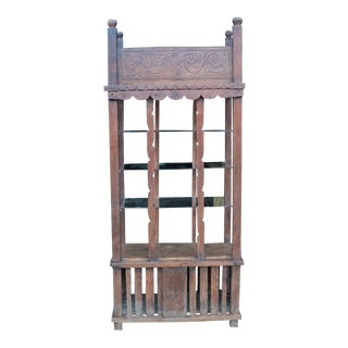 Antique World Asian Far East Spanish African Country Display Cabinet Etagere For Sale
