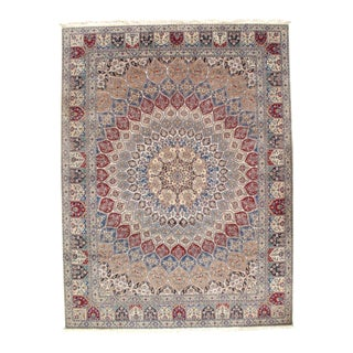 """Pasargad N Y Persian Nain Silk & Wool 6-Lines Rug - 8'8"""" X 11'6"""" For Sale"""