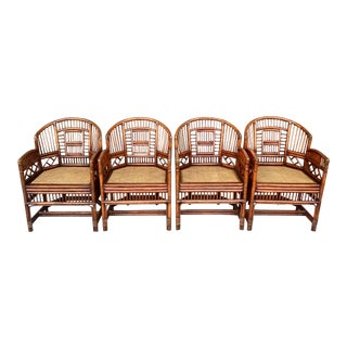 Brighton Pavilion Style Bamboo Chairs/4 For Sale