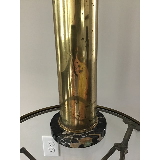 Trench Art Artillary Shell Brass Lamp For Sale - Image 9 of 11
