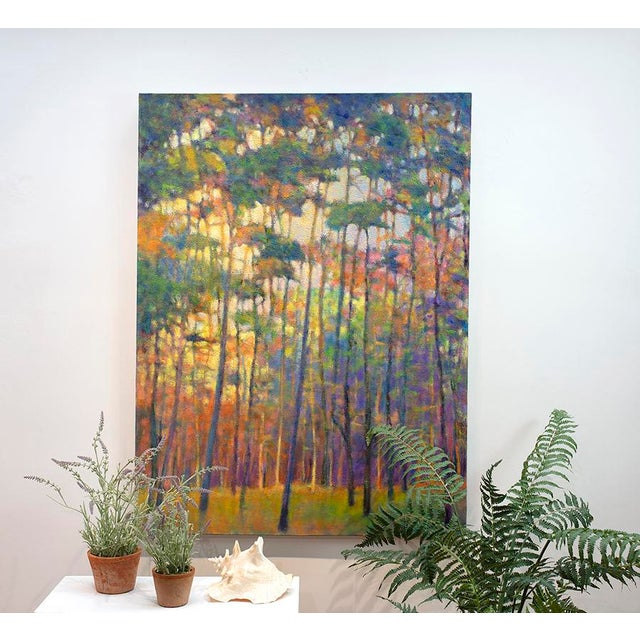 Green Ken Elliott, Glittering Forest, 2017 For Sale - Image 8 of 9