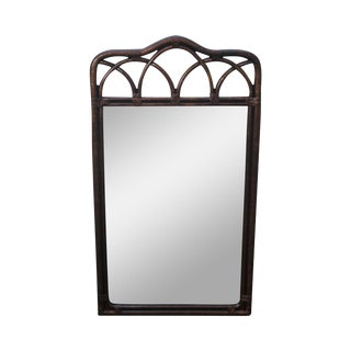 "Drexel Heritage ""Malay"" Collection Faux Bamboo Wall Mirror For Sale"