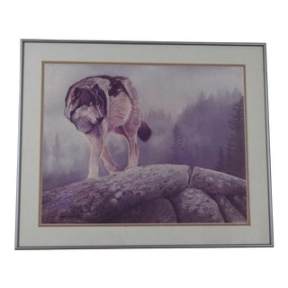 Lone Wolf Print by Bob Quick For Sale