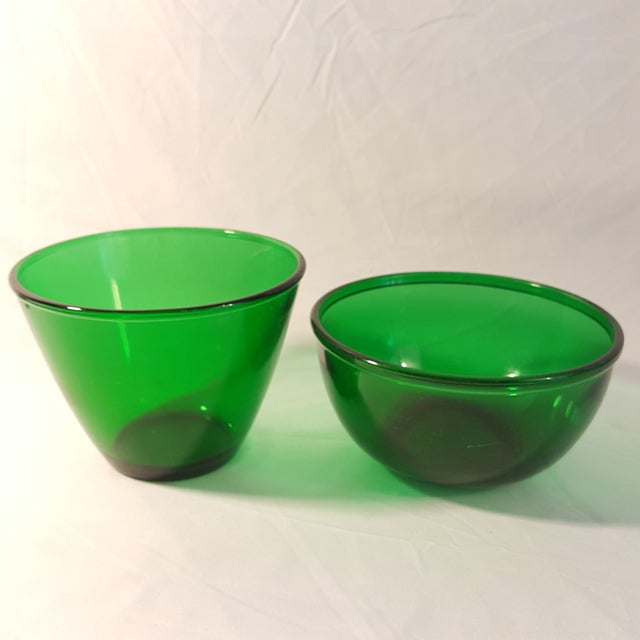 Anchor Hocking Anchor Hocking Forest Green Serving Bowls ,Set of 2 For Sale - Image 4 of 4