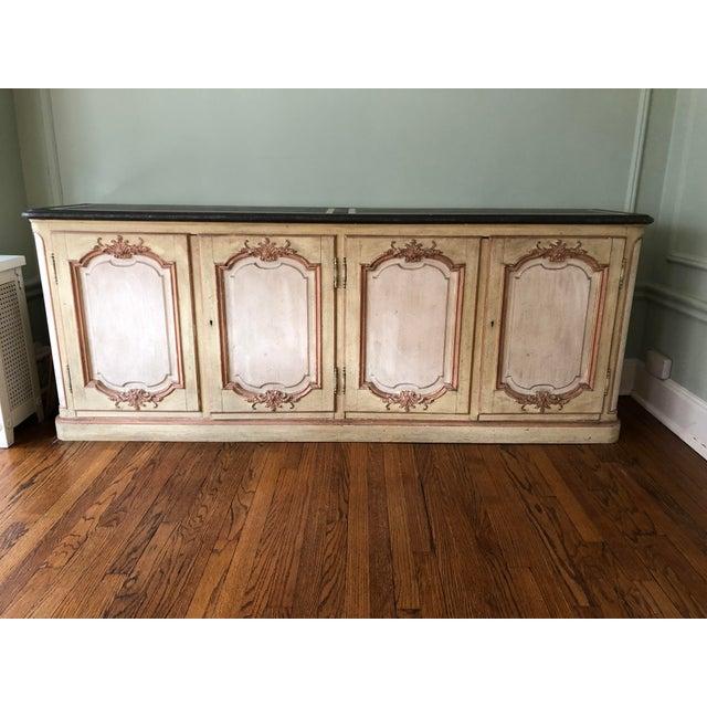 Hollywood Regency 1965 Hollywood Regency Baker Furniture Painted Credenza For Sale - Image 3 of 10