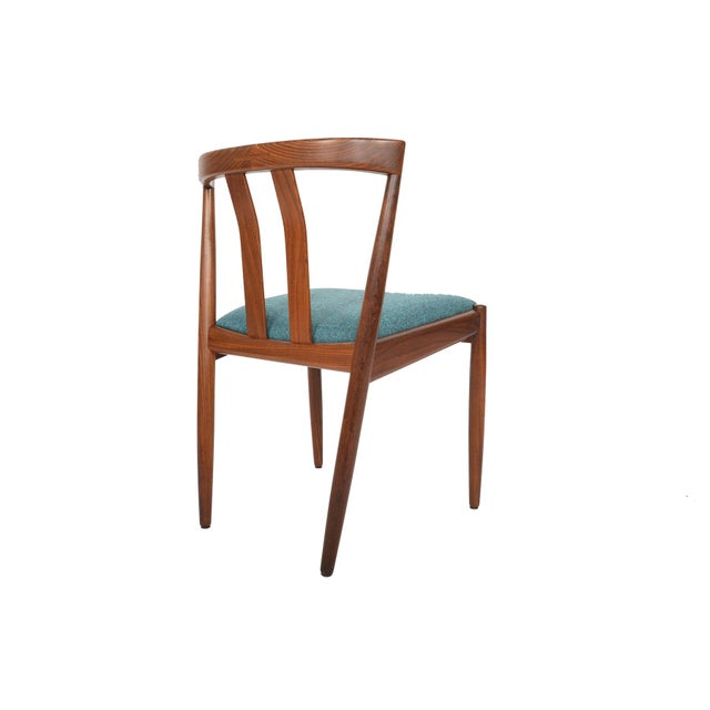 Danish Modern Curved Back Teak Dining Chairs - Set of 6 - Image 2 of 10
