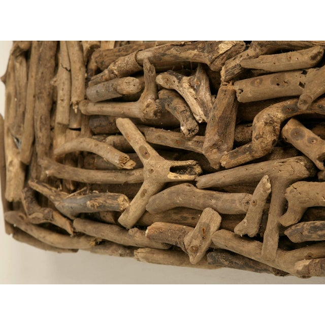 Wood Driftwood Mirror Imported From England For Sale - Image 7 of 10